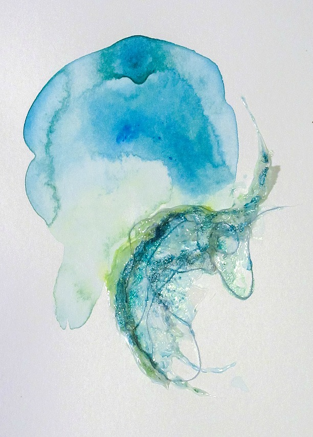 Swell,  8×10″, mixed media on watercolour paper